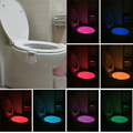 Colorful Motion Sensor Toilet Nightlight Home Toilet Bathroom Human Body Auto Motion Activated Sensor Seat Night Lamp 8-Colors