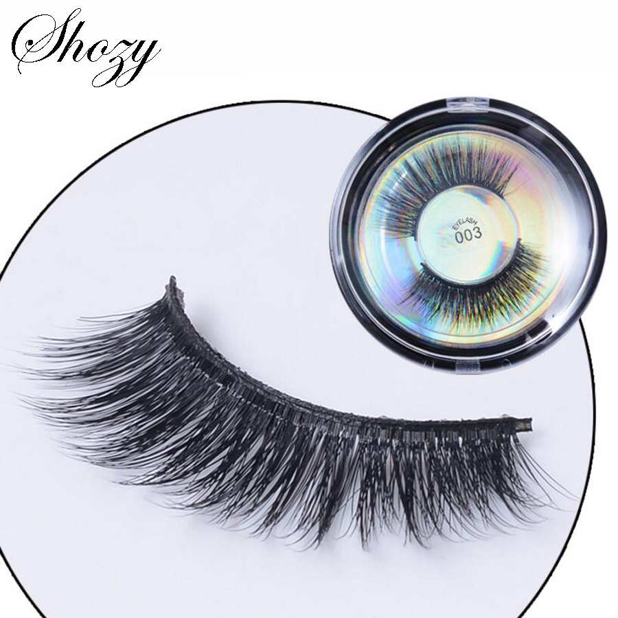 Shozy 1 Pair 3D Protein False Eyelashes Handmade Thick Fake Eyelashes Extention Eye Beauty Makeup Accessories-EDB003