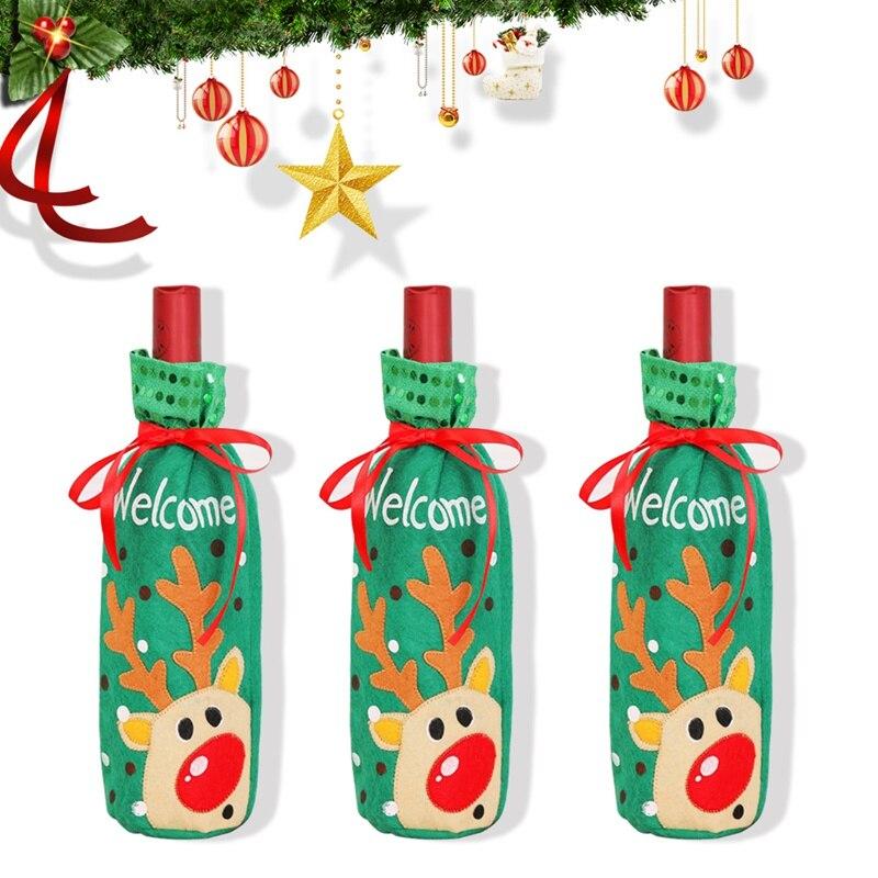 Рождественские украшения для дома Санта Клаус шампанское крышка бутылки вина