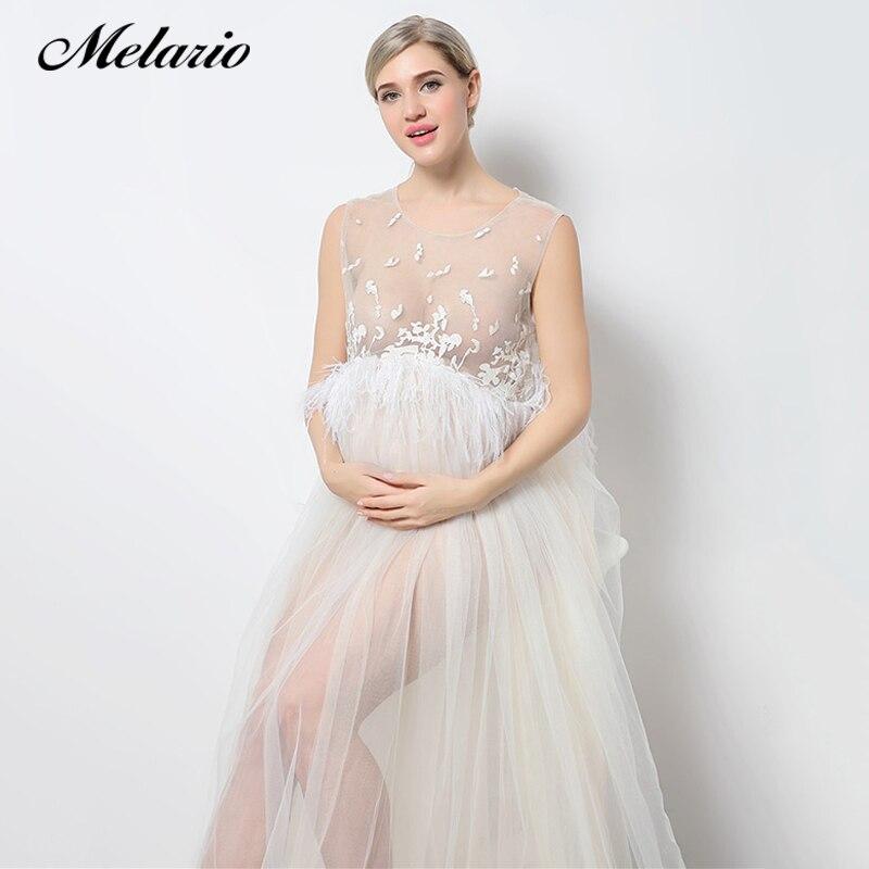 Melario платье для беременных 2018 для беременных Подставки для фотографий для беременных платье с вышивкой без рукавов Кружевное летнее платье ... ...