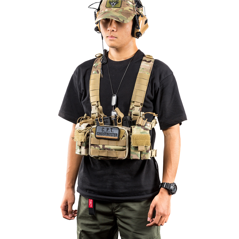 OneTigris Outdoor CS Vest Chest Set With X Harness Military Equipment 500D Nylon Cloth JPC Tactical
