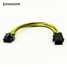 جوني سنو 8 دبوس ذكر إلى 6 دبوس أنثى موليكس IDE اكسبرس تمديد الطاقة مهائي كابلات ل وحدة المعالجة المركزية بطاقة الفيديو PCI E Power