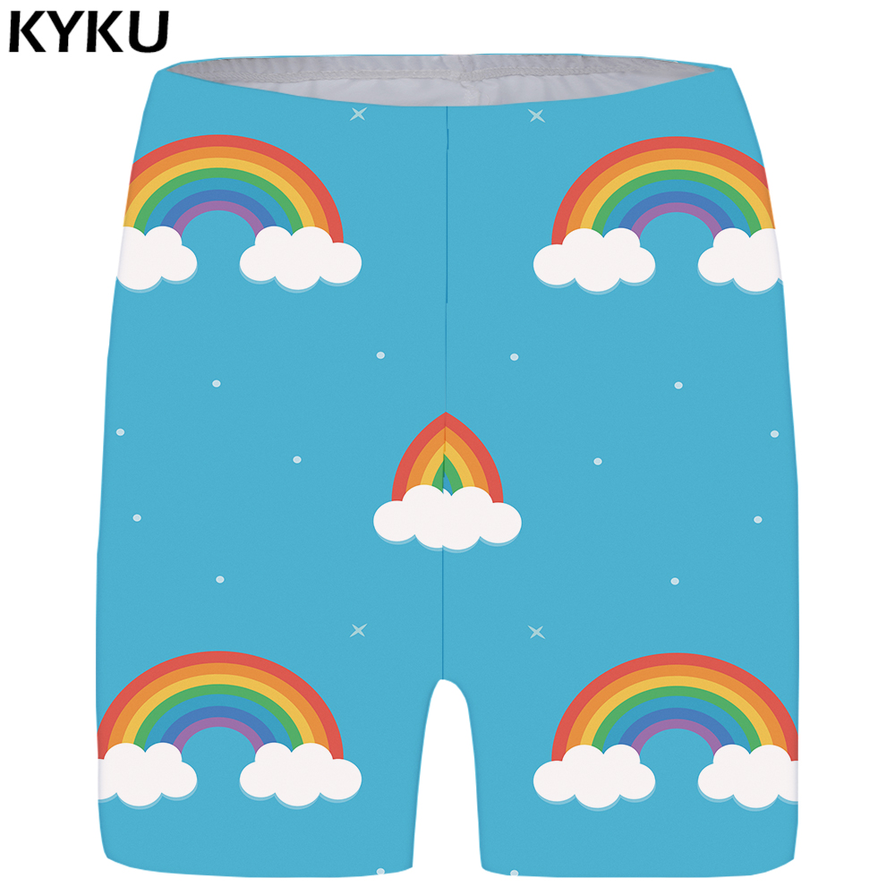 KYKU Flower Shorts Women Pink Space Casual Shorts Beautiful Skinny 3d Print Short Pants Sexy Cool Anime Ladies Shorts Womens New