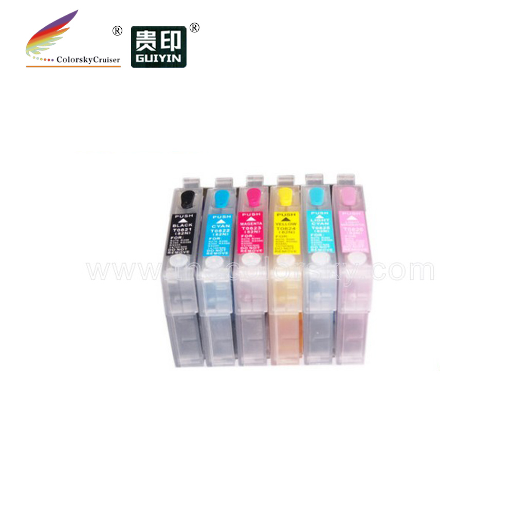 Refillable Cartridges compatible with Epson for 82 82N T50 Artisan 725 835 TX650