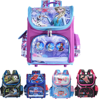 New Arrivel Snow Queen School Bag Orthopedic Children School Bag Cars School Backpack Mochila Infantil For