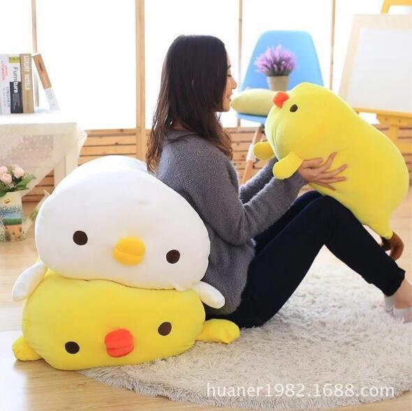 90 cm grande taille oreiller de poulet doux en peluche jouet poussin poupée Animal oreiller apaisant sommeil oreiller