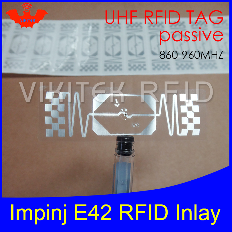 UHF RFID tag Impinj E42 dry inlay 915mhz 900mhz 868mhz 860-960MHZ Higgs3 EPCC1G2 6C smart card passive RFID tags label mirror silver metal shoe display stand polished shoe rack sandal holder display rack stand shoes holder rack