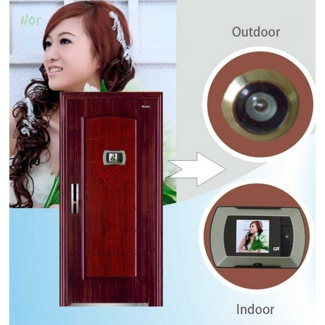 2.4 LCD Wide Angle Electronic Door Peephole Peep Hole Visual Monitor Wireless Viewer Puertas Doorbell Mirillas  sc 1 st  AliExpress.com & 2.4 LCD Wide Angle Electronic Door Peephole Peep Hole Visual Monitor ...