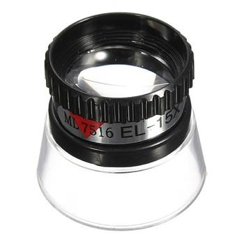 Szkło powiększające 22mm 15X monokularowy lupa obiektyw narzędzie jubilerskie oko lupa do naprawy zegarków narzędzie czarne przenośne narzędzia tanie i dobre opinie Inpelanyu Styl noszenia N1197 Brak Z tworzywa sztucznego Repair Tool and Eye Magnifier ABS and Acrylic Loupe Lens Jeweler Watch Tool