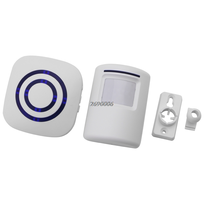 Wireless Infrared Motion Sensor Door Security Bell Alarm Chime EU/US Plug wireless infrared motion sensor door security bell alarm chime eu us plug