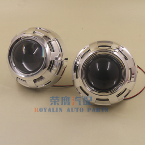 Image 3 - ROYALIN Car Styling 3.0 Bi Xenon H1 Projector Lens Metal Holder LHD RHD for Apollo 3.0 Shrouds w/Devil Eyes for H4 H7 Auto Lamps