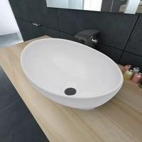 Modern style Countertop Sink High quality Artistic Oval shaped Wash Basin Household Luxurious Washbasin Ceramic Bathroom Sink