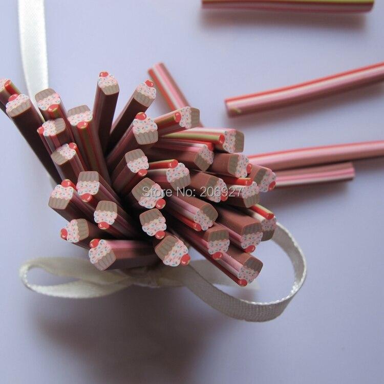 5 шт. M-49 5 мм милый торт трость необычный дизайн ногтей Полимерная глина трость украшение для ногтей