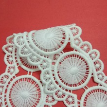 15Yards Scallop Embroidery Lace Trim White Lace Embroidered  for Clothes Home Textiles Apparel Sewing Scallop Lace Fabric scallop edge sheer embroidered mesh longline kimono