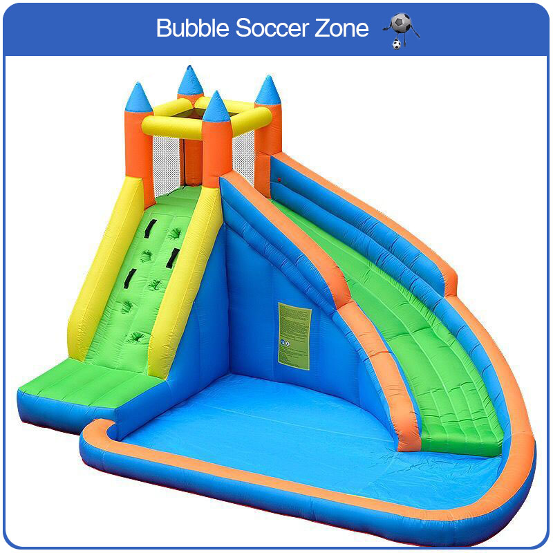 Free Shipping Kids Inflatable Water Slide Big Pool Bounce House Jumper Bouncer Jump Bouncy Castle yard dhl free shipping inflatable bouncer bouncy jumper colorful castle with long slide for kids