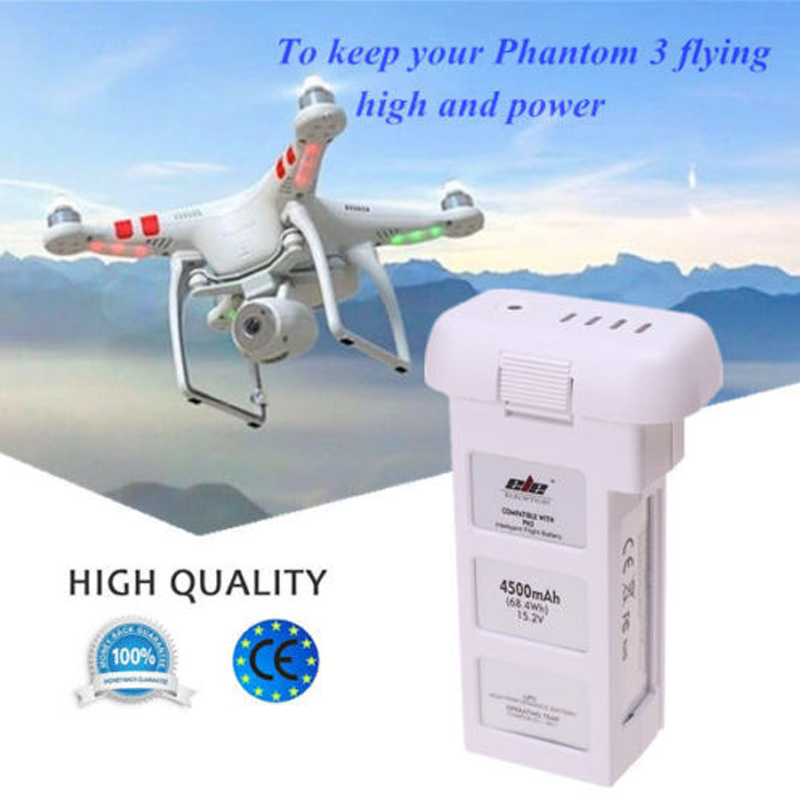For DJI Phantom 3 Professional Intelligent Flight LiPo Battery 4500mAh 15.2V US high quality hot lipo 15 2v 4500mah rechargeable battery for dji phantom 3 professional akku free shipping