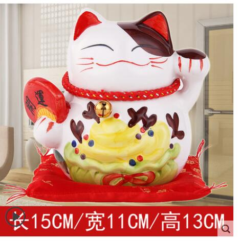A Lucky Cat ornaments cashier Japan large ceramic cat piggy piggy bank creative gift shop opened living room small ornaments