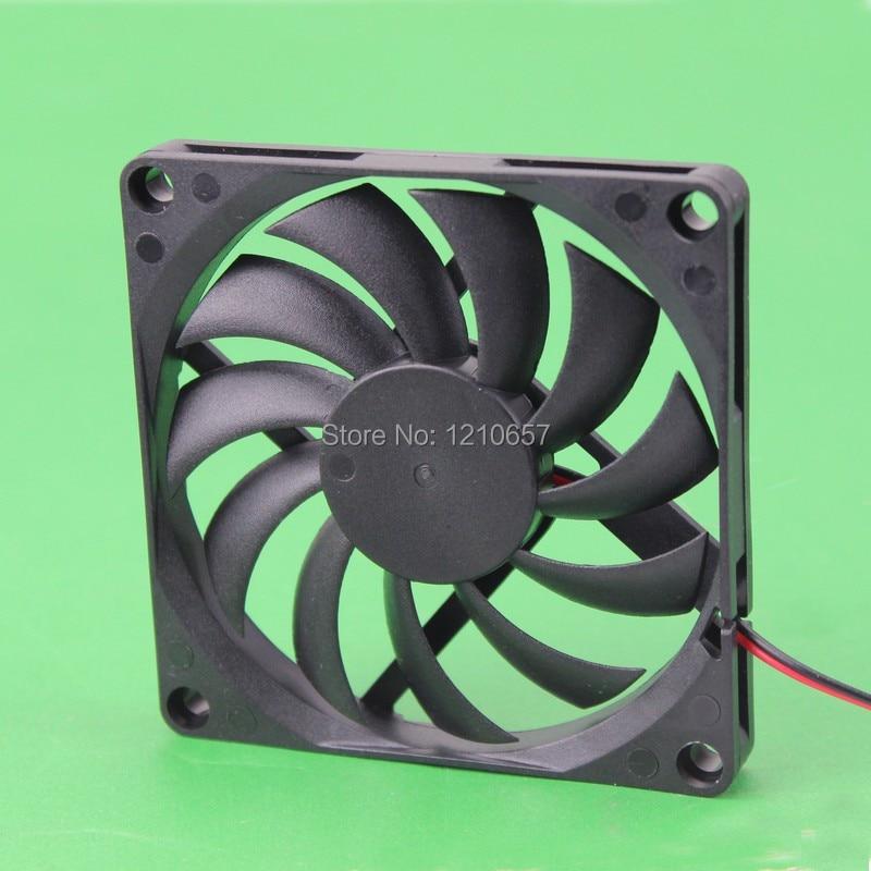 1PCS DC 24V 2Pin 80mm 8cm 80x10mm PC Computer Case Brushless Motor Cooling Fan gdstime 10 pcs dc 12v 14025 pc case cooling fan 140mm x 25mm 14cm 2 wire 2pin connector computer 140x140x25mm