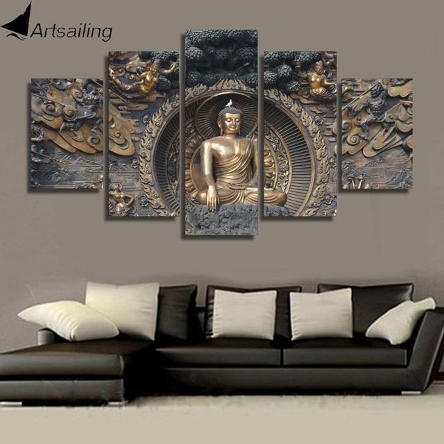 HD Printed Buddha statue Painting wall art room decor print poster ...