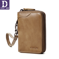 DIDE passport wallet Genuine Leather cover case card holder Money For Men Vintage Organizer Small Wallet Purse Men