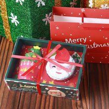 Праздничный торт моделирование Хлопковое полотенце Санта-полотенце со снеговиком подарки для рождественской вечеринки Прямая поставка