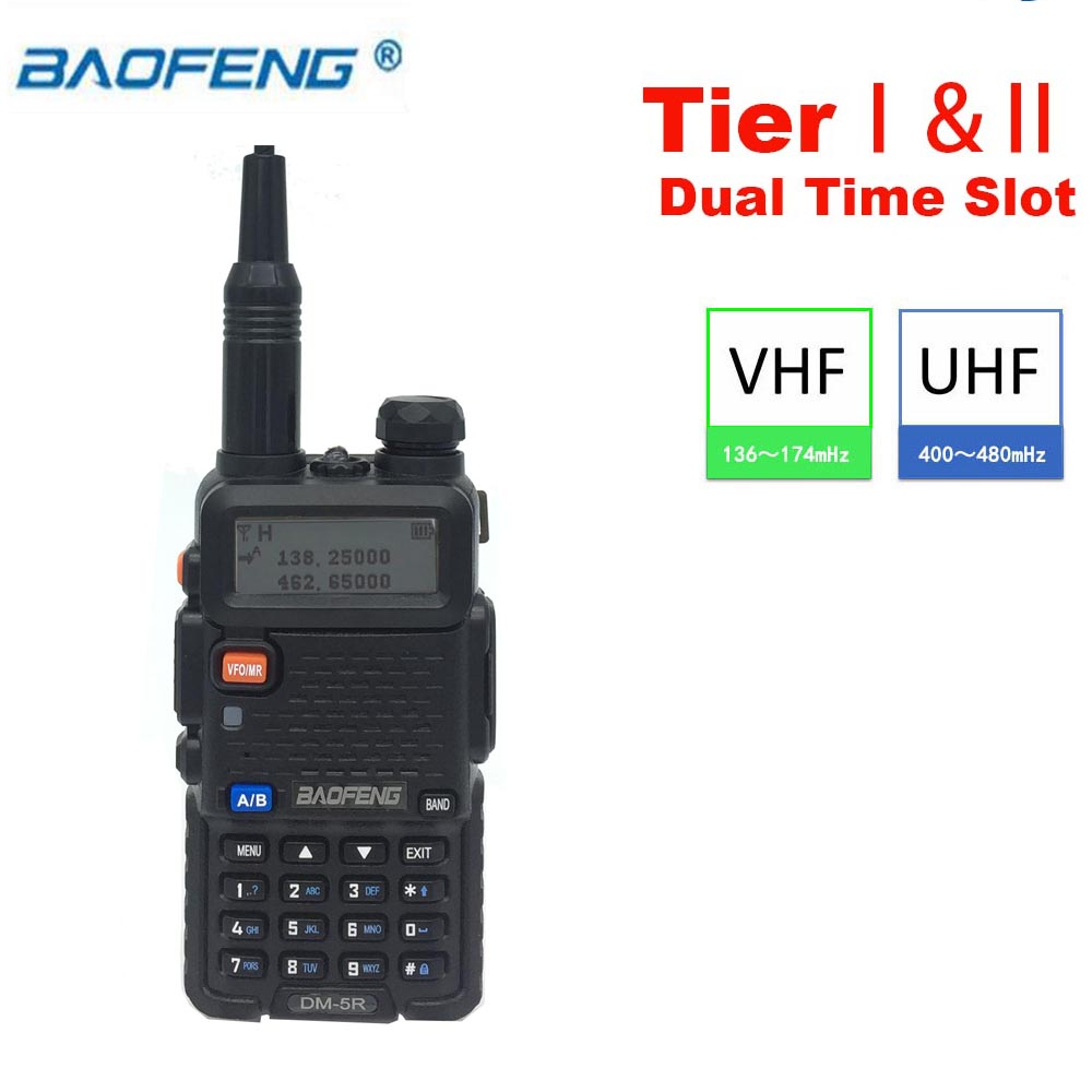 Baofeng DM 5R DMR Digital Walkie Taklie Tier I II VFO Dual Band VHF UHF 136