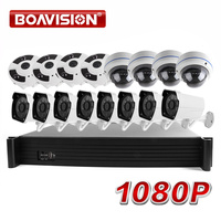 16CH POE NVR System Kit With 2MP 1080P Security Bullet&Dome IP Camera Fisheye View 16 Channel CCTV Surveillance Security System