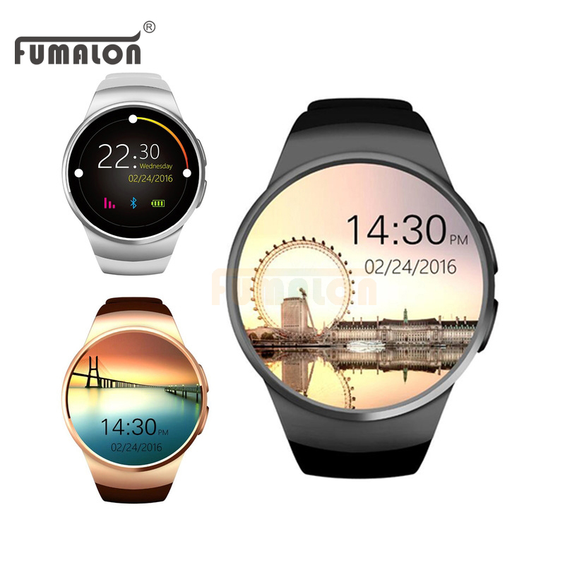 Smart Watch KW18 Heart Rate Monitor SIM TF MTK2502C Smartwatch Touch Screen Smart Bluetooth Wristwatch For Android IOS Phones fashion heart rate monitor smart watch sim tf smartwatch android 2 5d ogs touch screen smart wristwatch bluetooth facebook buit