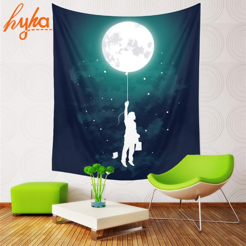 Hyha Triple Moon Goddess Tapestry Space Mjölk Way Dreamlike Planet - Hemtextil - Foto 6