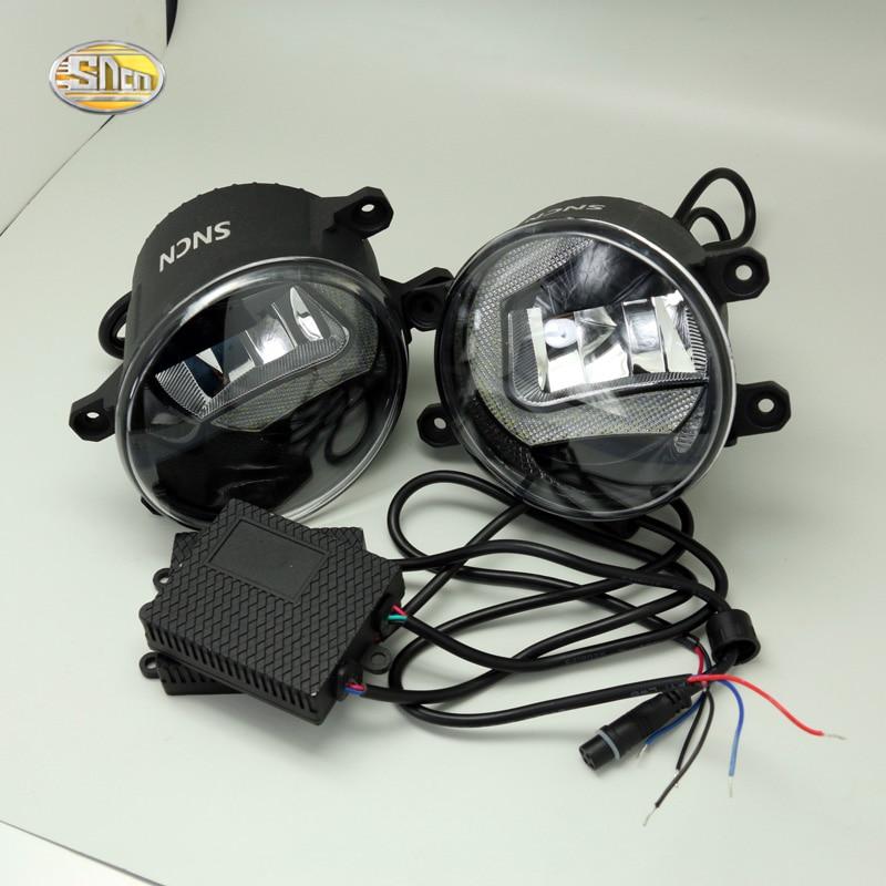 SNCN LED fog lamp for Toyota Reiz Mark 2010-2017 Daytime Running Lights DRL fog 2 functions 1 set white led daytime running fog light drl for toyota mark x reiz 2013 2015