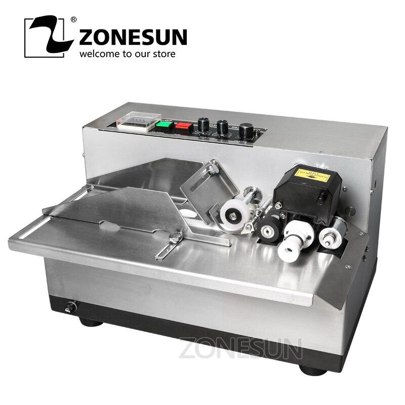 ZONESUN MY380 Inkt Roll Codering Machine Kaart Code Printer Produceren Datum Drukmachine Solid Ink Continu Afdrukken Machine