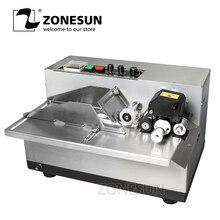 ZONESUN Machine à coder en rouleau dencre MY380, imprimante de Code, produit, Date, impression continue à encre solide