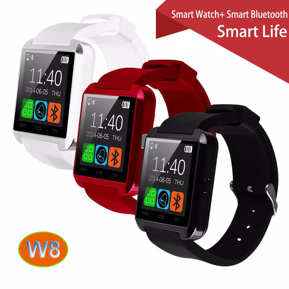100 Original Gooweel W8 Bluetooth font b Smart b font Watch Sport for iPhone 4 4S