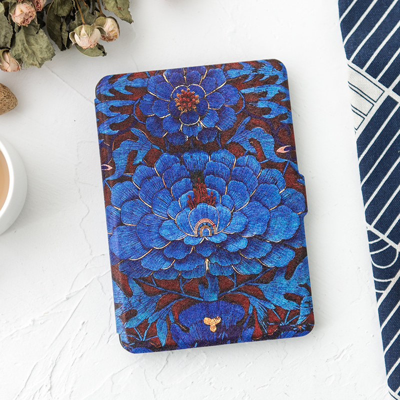 Peony Design 2016 8th New Kindle/ Voyage Case 6 Inch Folio Pu Leather Cover for Amazon Kindle Paperwhite 3 2 1 Magnet Shell mdfundas flower animal pattern cover for amazon kindle paperwhite 1 2 3 case flip stand leather shell for kindle paperwhite 3