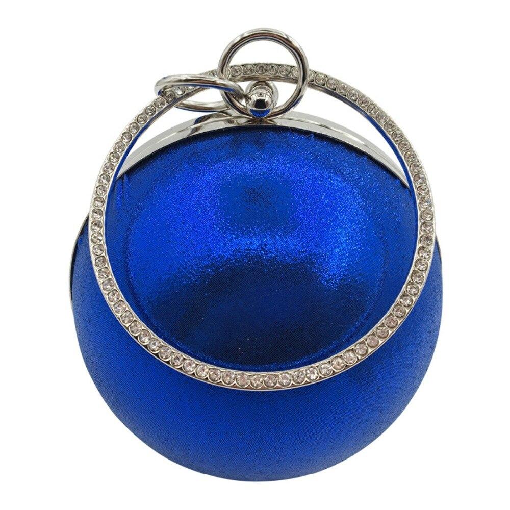 2019 Fashion Women Evening Bag Gold Silver Sequins Ladies Handbag Famous Brand Women Clutch Bag Small Round Chain Shoulder Bags