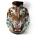 QYDM 014 Europe and the United States tide brand men tiger head digital printing sweater round neck collar large size loose cap