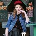 2017 Women Denim Jacket Plus Size 4XL Spring Long Denim Jacket For Women Jeans Jacket Women Oversized Denim Coat