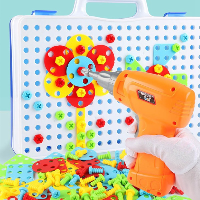 Kids Drill Toys Creative Educational Toy Electric Drill ...