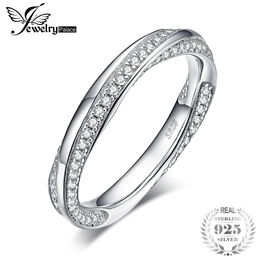 Jewelrypalace Twisted Promise Cubic Zirconia Wedding Band