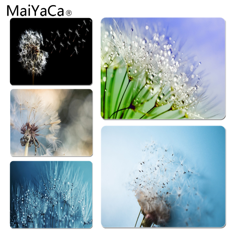 MaiYaCa Scattered dandelion Customized laptop Gaming mouse pad Size for 18X22CM Speed Version Gaming Mousepads