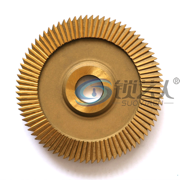 High speed steel double side angles 0011B titanium milling cutter for WenXing key cutting machine 201C,201D,100E1,100F locksmith milling cutter 70x7 3x12 7x26t welded carbide cutter for wenxing portable q27 100d 100g 100e horizontal key cutting machines