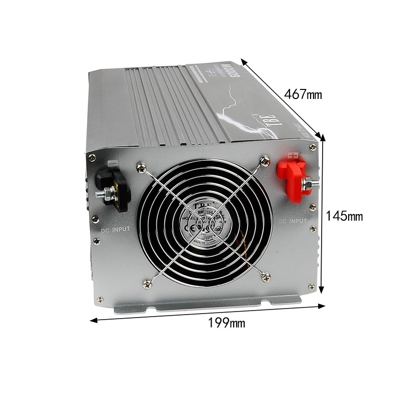Чистая Синусоидальная волна инвертор 6000 Вт DC 12 В к AC 220 В солнечный инвертор ветровой энергии пиковая мощность 12000 Вт Инвертор
