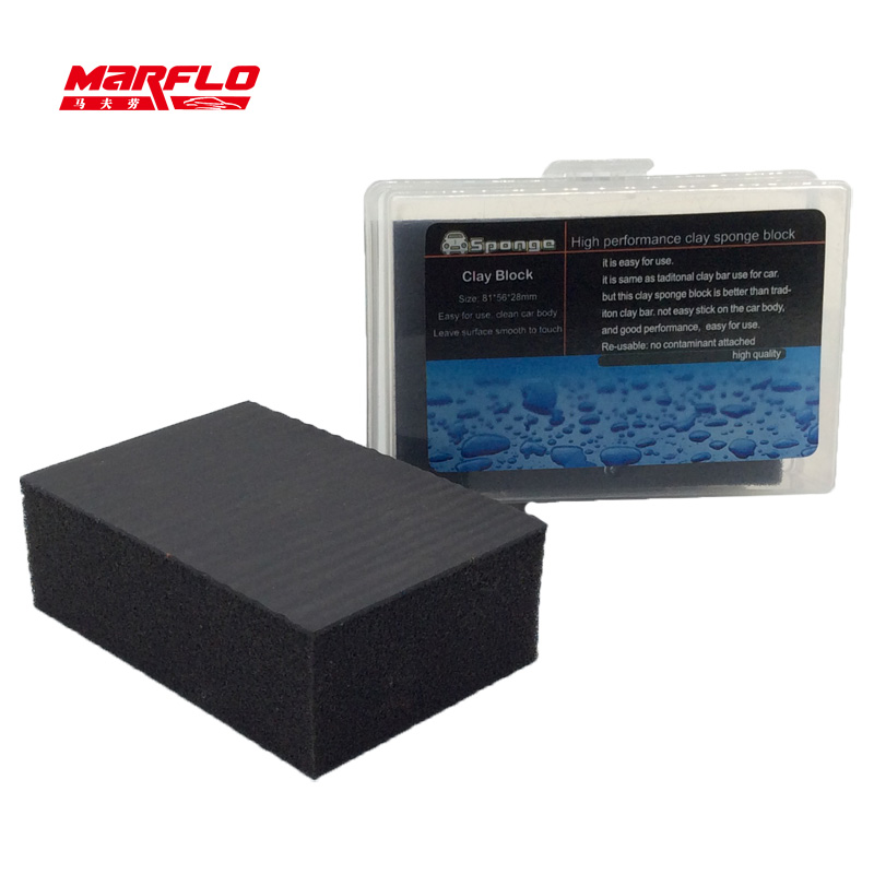 marflo speedy surface prep clay 2 0 car washing magic clay sponge pad before polish wax for car. Black Bedroom Furniture Sets. Home Design Ideas