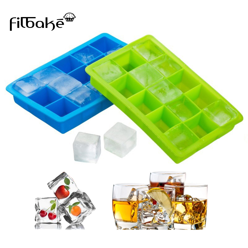 Souple De Qualité Alimentaire Silicone ice cub Halloween 3D Crâne Ice Cube Moule Avec Couvercle
