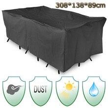 Wasserdicht Terrasse Gartenmöbel Abdeckung 308×138 cm Stuhl Tisch Abdeckung Staub Regen Uv Tischdecke Heimtextilien liefert