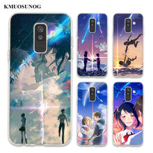 Transparent Soft Silicone Phone Case Japanese anime Your Name For Samsung Galaxy A6 A6+ A8 Star A8+ A7 A5 A3 Plus 2018 2016
