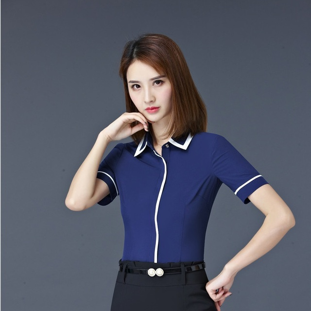 8c6511886cbe2 Plus Size 4XL Formal OL Styles Blouses Shirts Ladies Office Work Wear Tops  Blouse Professional Business Women Clothes Blusa