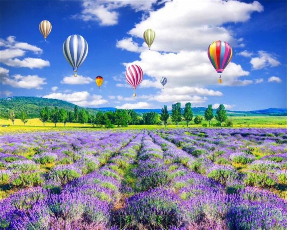 Custom home background decoration wallpaper lavender flowers custom home background decoration wallpaper lavender flowers beautiful landscape painting wallpapers for living room beibehang in wallpapers from home izmirmasajfo