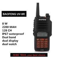 Baofeng UV 9R Walkie Talkie PTT 8W Radio 10KM UHF VHF IP67 Waterproof Transceiver Ham Portable CB Radio Communicator GT 3TP