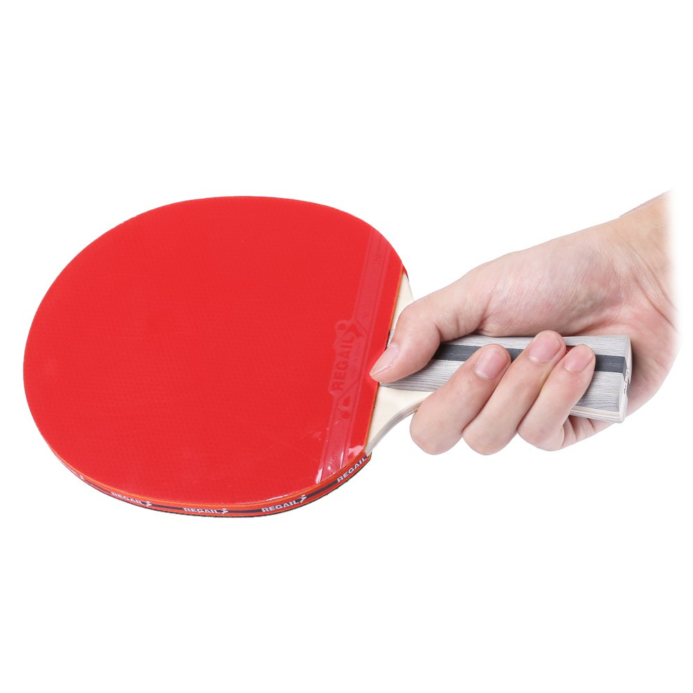 Regail 8020 Shake Hand Grip Table Tennis Racket Ping Pong Paddle
